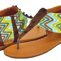 Qupid Agency-237 Brown Women Flat Sandals