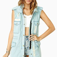 Trip Along Denim Vest