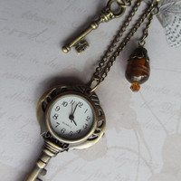 Steampunk Key Watch Pendant Key Pocket by Charsfavoritethings