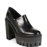 Stella McCartney - Shiny Faux Leather Platform Clogs