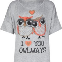 FULL TILT Love You Owlways Girls Tee