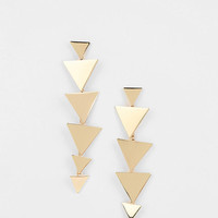 Triangle Chain Drop Earring - Urban Outfitters