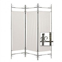 Screen Gems Iron Canvas Folding Room Divider - SG-26 - Room Dividers - Decor