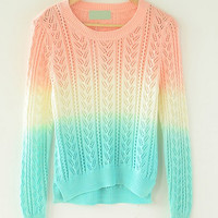 Fashion gradient hollow sweater BADBH
