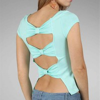 Mint Open Back Top :: windsorstore.com