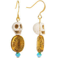 Handcrafted Day of the Dead Dangle Earrings MADE WITH SWAROVSKI ELEMENTS | Body Candy Body Jewelry