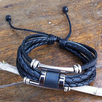 Couple Bracelet  Unisex Leather Bracelet Jewelry Bangle bracelet women Leather Bracelet Girl Ropes Bracelet Men Leather Bracelet  T071