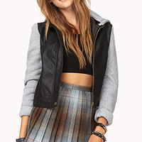 Cool Knit-Trimmed Jacket | FOREVER 21 - 2073297847