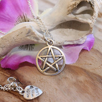 Supernatural pentagram  Charm Necklace  Hipster by tranquilityy