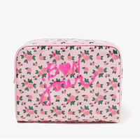 Bon Jour Floral Cosmetic Bag