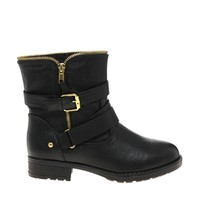 River Island Black Leo Zip Boots