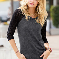Lace Baseball Tee - Victoria's Secret