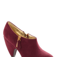 Haute on Your Heels Bootie in Oxblood | Mod Retro Vintage Boots | ModCloth.com