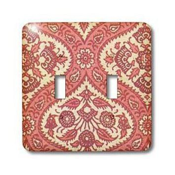 TNMPastPerfect Vintage Designs - Rose Vintage Design - Light Switch Covers - double toggle switch