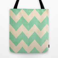 Malibu - Chevron Tote Bag by CMcDonald