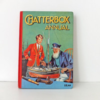 Chatterbox Annual 1955, Vintage Children's Book, Nostalgic gift, Playroom decor