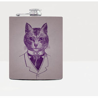 Cat hip flask - Gift for him, for her - Gifts for him - Unique gift for men - Hip flasks - 21st birthday gift