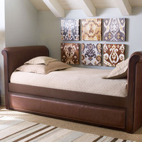 Ethan Leather Daybed with Trundle