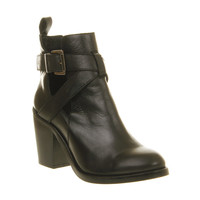 Office Beloved Cut Out Boot Black Leather - Ankle Boots