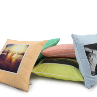 photo pillow in apricot