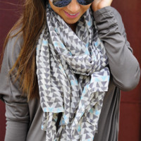 Play It Again Scarf: Grey/Multi | Hope's