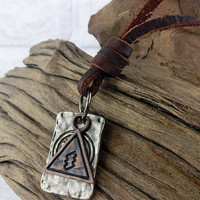 soft leather necklace,traffic sign pendant men leather long necklace, women leather necklace  T051