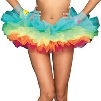 Leg Avenue Women's Rainbow Organza Tutu Dress