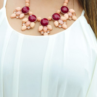 Pardon Me Necklace: Dusky Pink | Hope's