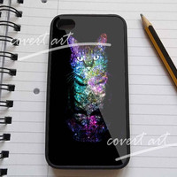 Cute galaxy cat in rainbow sparkle for iPhone 4 / 4S / 5 Case Samsung Galaxy S3 / S4 Case