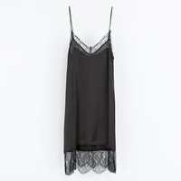 LINGERIE STYLE DRESS - Lace - Woman | ZARA United Kingdom