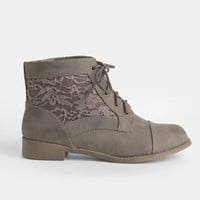 Dreams Never End Lace Panel Boots