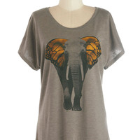 Butterfly Believe It Top | Mod Retro Vintage T-Shirts | ModCloth.com