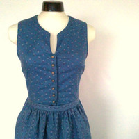 Dirndl Dress sky blue size XS vintage by thevintagequeendom