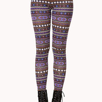 Day Trip Tribal Print Leggings | FOREVER 21 - 2000074116
