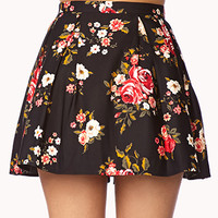 Fancy Floral Box Pleated Skirt | FOREVER 21 - 2000111938