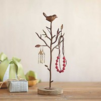 Jewelry Tree with Bird - VivaTerra