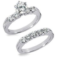 3.00 Ct.Diamond Engagement Ring Set