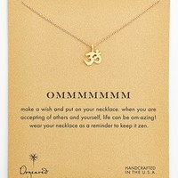 Dogeared 'Reminder - Ommmmmmm' Boxed Pendant Necklace