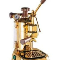 La Pavoni PPG-16 Professional Gold-Plated 16-Cup Espresso Machine, Brass