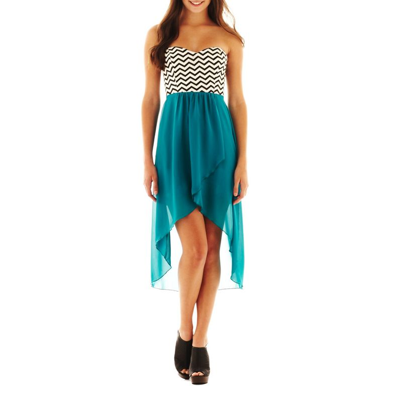 Trixxi® Chevron High-Low Dress From JCPenney