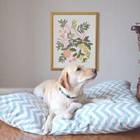 Medium Blue Chevron Dog Bed Cover | BRIKA - A Well-Crafted Life