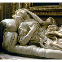 Death of the Blessed Ludovica Albertoni, from the Altieri Chapel, 1674 Giclee Print by Giovanni Lorenzo Bernini at Art.com