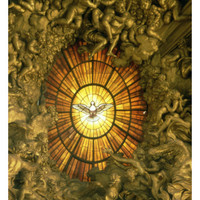 The Chair of St.Peter, Detail of the Stained Glass Window Behind, 1665 Giclee Print by Giovanni Lorenzo Bernini at Art.com