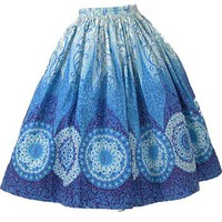 60s Novelty Print Full Skirt-1960s Authentic Vintage Clothes