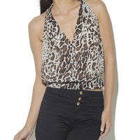 Leopard Banded Bottom Blouse | Shop Animal at Arden B
