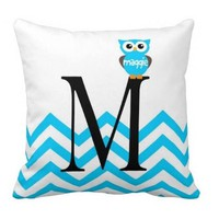Personalized Handmade Nursery Owl Pillow with Monogram - Whimsical & Unique Gift Ideas for the Coolest Gift Givers