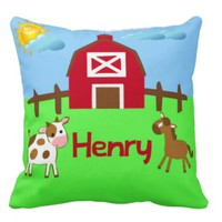 Personalized Handmade Nursery Farm Pillow - Whimsical & Unique Gift Ideas for the Coolest Gift Givers