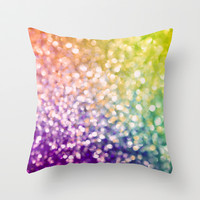 Whirlwind Bokeh Throw Pillow by Lisa Argyropoulos
