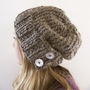 augustyn a slouchy hand knit hat in barley by bungaloe on Etsy