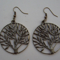 tree earrings by qizhouhuang on Etsy